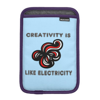 """Creativity is Like Electricity"" iPad Mini Soft Ca iPad Mini Sleeve"