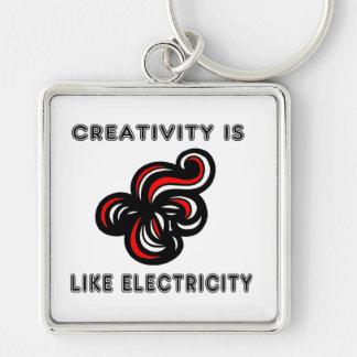 """Creativity is Like Electricity"" Premium Keychain"
