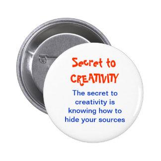 CREATIVITY no more a SECRET 2 Inch Round Button