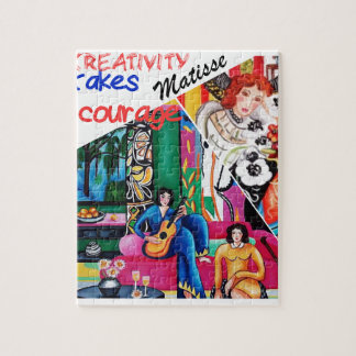 Creativity of Matisse painting collage Jigsaw Puzzle