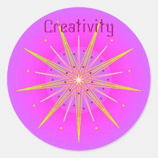 Creativity (Virtue sticker) Round Sticker