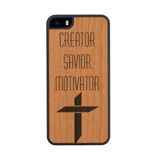 Creator Savior Motivator Wood iPhone SE/5/5s Case