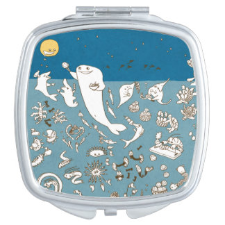 Creature and oden of sea makeup mirror
