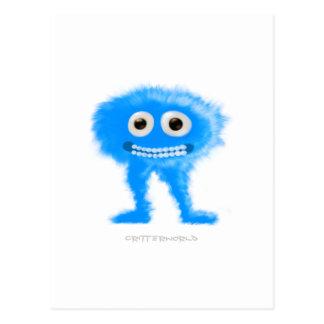 Créature aux longues jambes bleue cartes postales