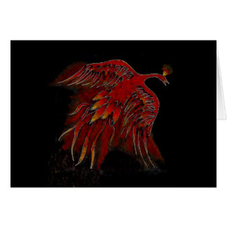 Creature of Fire Blank Greeting Card-horizontal Card
