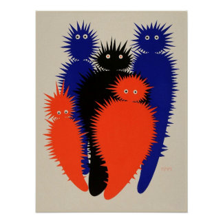 Creatures by Julius Klinger circa 1909 Poster