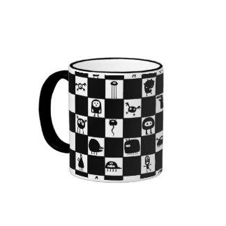 Créatures de damier mugs à café