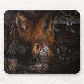 Créatures des cadeaux et des salutations en bois tapis de souris