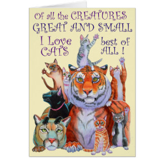 Creatures Great and Small Cat! Card