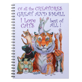 Creatures Great and Small Cat! Note Books