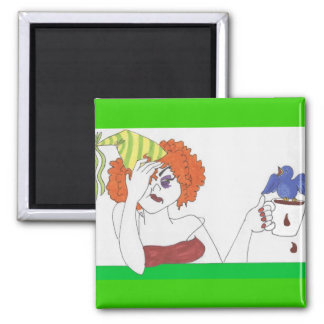 creatures of the night and coffee square magnet