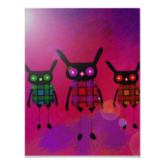 """creatures without names 4.25"""" x 5.5"""" invitation card"""