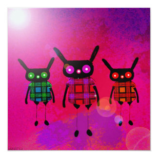 """creatures without names 5.25"""" square invitation card"""