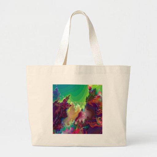 Crèches abstraites d'étoile de couleurs sacs en toile