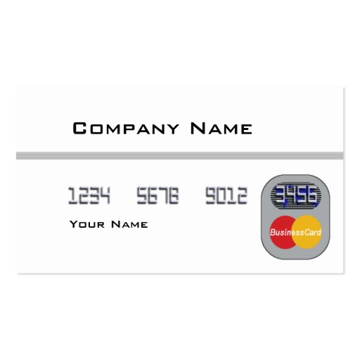 Credit Card (Blank) Double-Sided Standard Business Cards