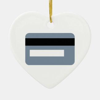Credit card ceramic ornament