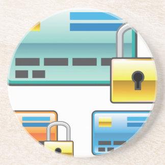 Credit Card Lock debit ATM card Coaster
