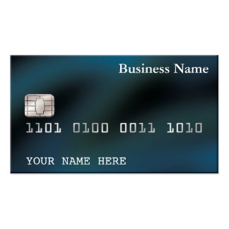 Credit Card style BUSINESS CARD (2-sided) blue
