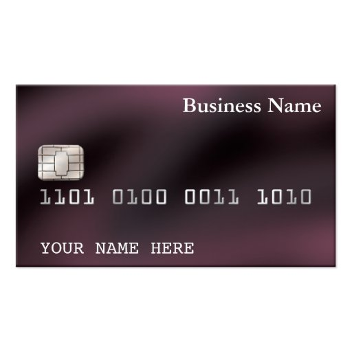 Credit Card style BUSINESS CARD (2-sided) purple