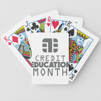 Credit Education Month - March Bicycle Playing Cards