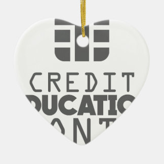 Credit Education Month - March Ceramic Heart Ornament