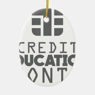 Credit Education Month - March Ceramic Oval Ornament