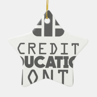 Credit Education Month - March Ceramic Star Ornament