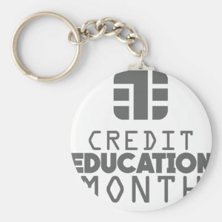 Credit Education Month - March Keychain