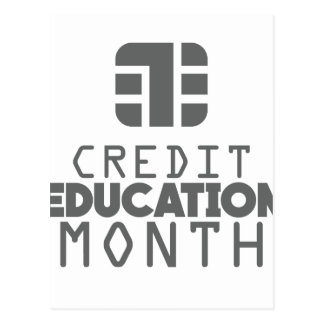 Credit Education Month - March Postcard