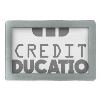 Credit Education Month - March Rectangular Belt Buckles