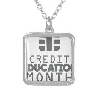 Credit Education Month - March Silver Plated Necklace