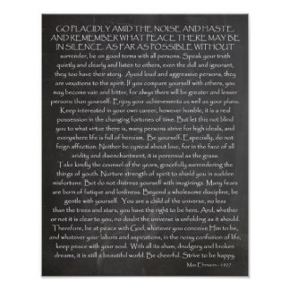 Credo For Life   Desired Things   Desiderata Poster
