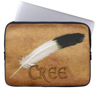 CREE Native American Feather Laptop Sleeve
