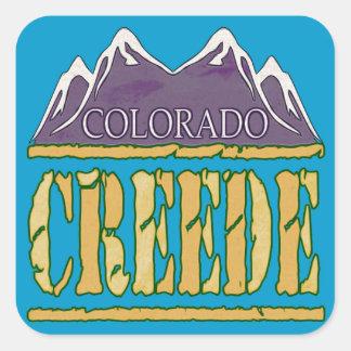 Creede, Colorado Square Sticker