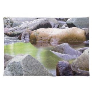 creek among stones placemat