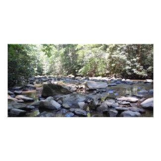 Creek and Rocks Custom Photo Card