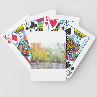 Creek - Fall Bicycle Playing Cards