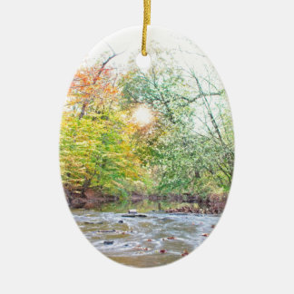 Creek - Fall Ceramic Ornament