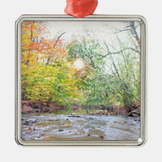 Creek - Fall Metal Ornament