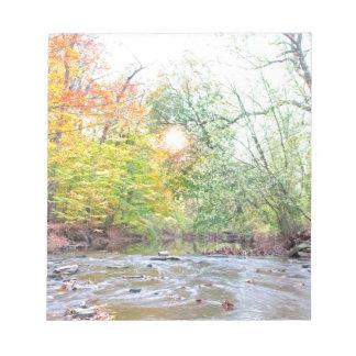Creek - Fall Notepad