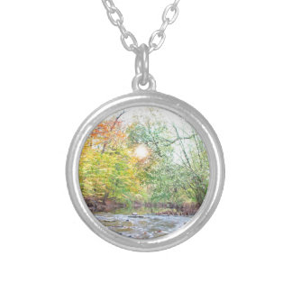 Creek - Fall Silver Plated Necklace