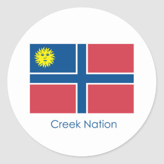 Creek Nation Flag Classic Round Sticker
