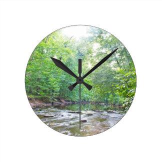 Creek - Summer Round Clock