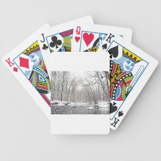 Creek - Winter Bicycle Playing Cards