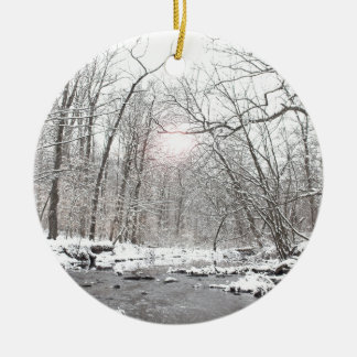 Creek - Winter Ceramic Ornament