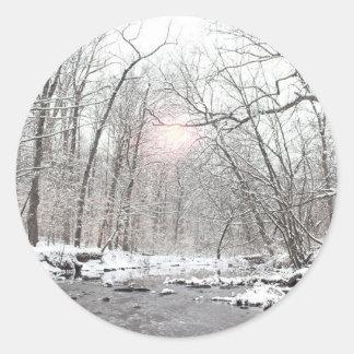 Creek - Winter Classic Round Sticker