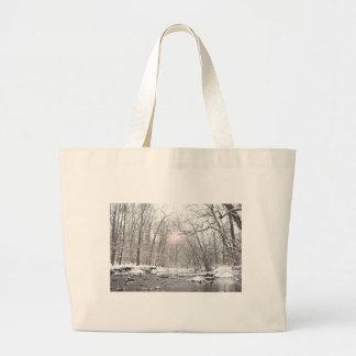 Creek - Winter Large Tote Bag