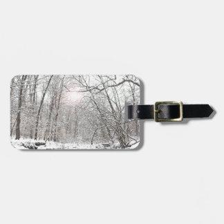 Creek - Winter Luggage Tag