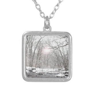 Creek - Winter Silver Plated Necklace