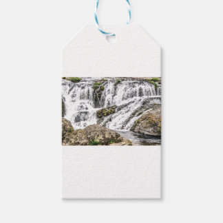 creeks pours over rocks gift tags